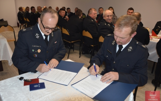 Spotkanie opłatkowe Zarządu Oddziału Gminnego ZOSP RP w Lubaczowie