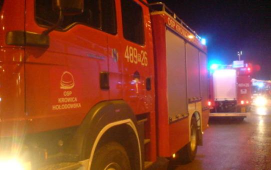 Pożar budynku mieszkalnego w Oleszycach